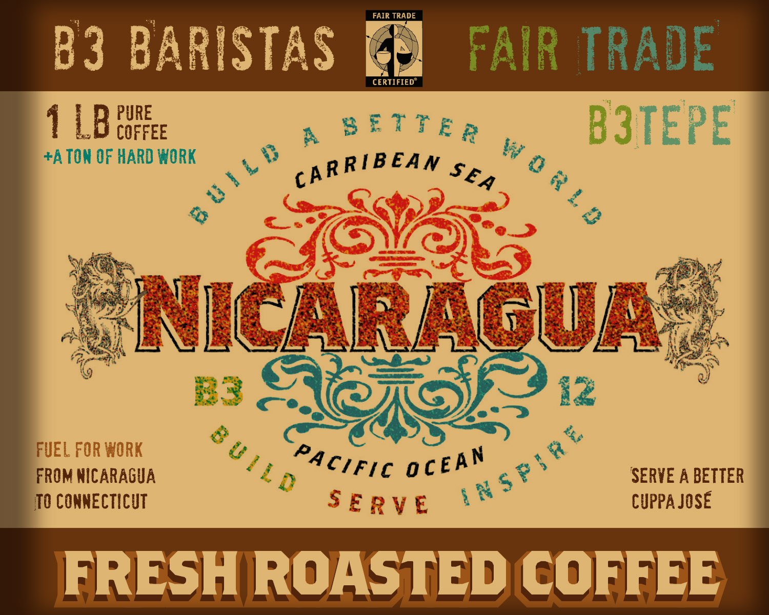 B3 Coffee Label Nica w Bkgd