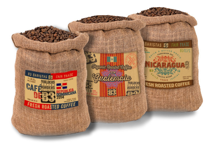 Coffe Bags w labels