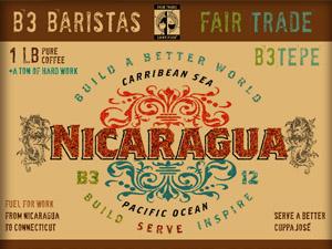 Nicaragua Coffee Label